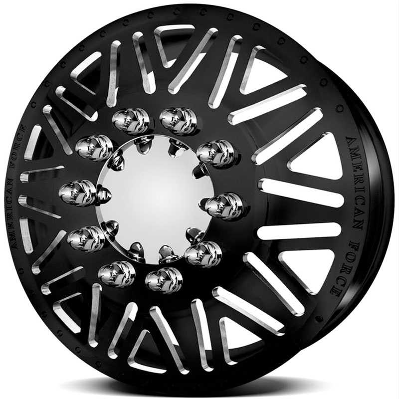 American Force Dually TITAN  Wheels Black Textured-Machined Windows