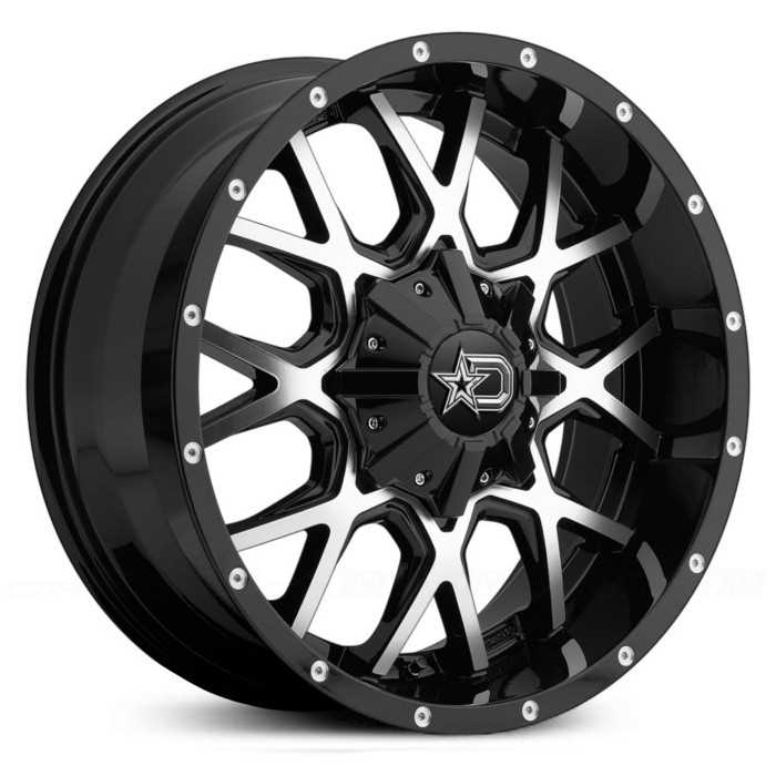 Dropstar 645MB Gloss Black w/ Machined Face & Chrome Star Cap