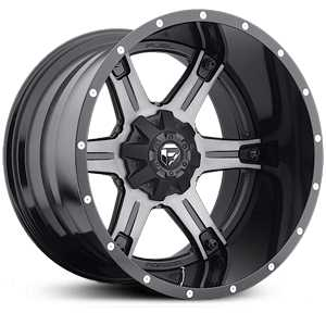 Fuel Offroad D256 Driller Two Piece  Rims Black Milled