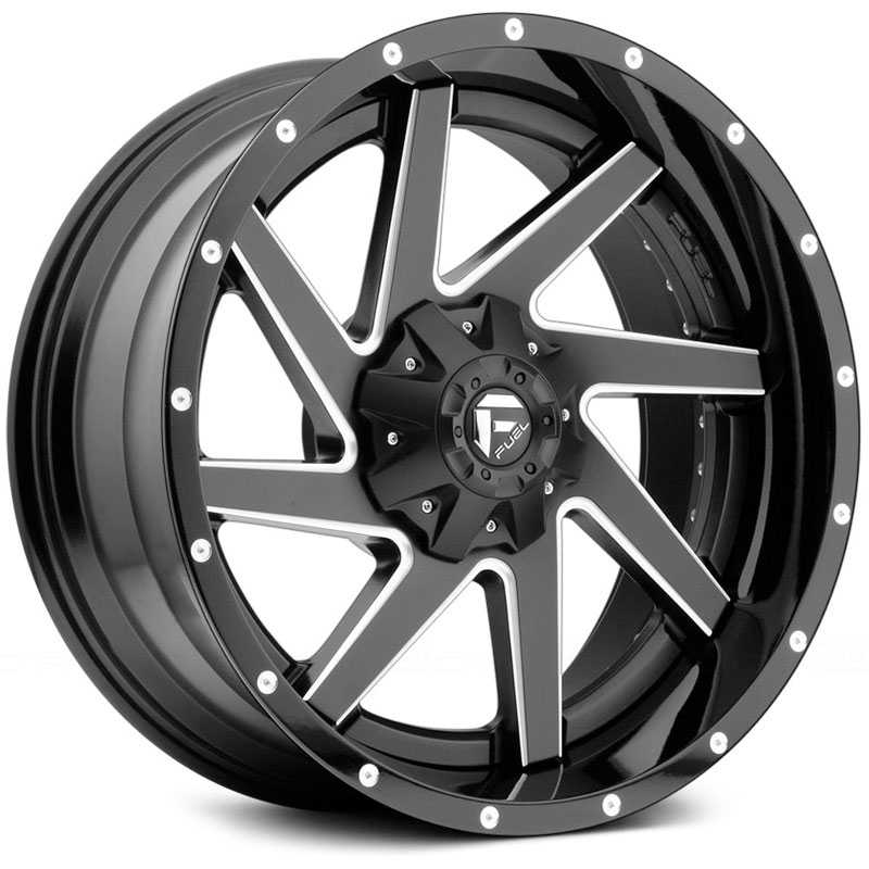 Fuel Offroad D265 Renegade  Rims Black Milled