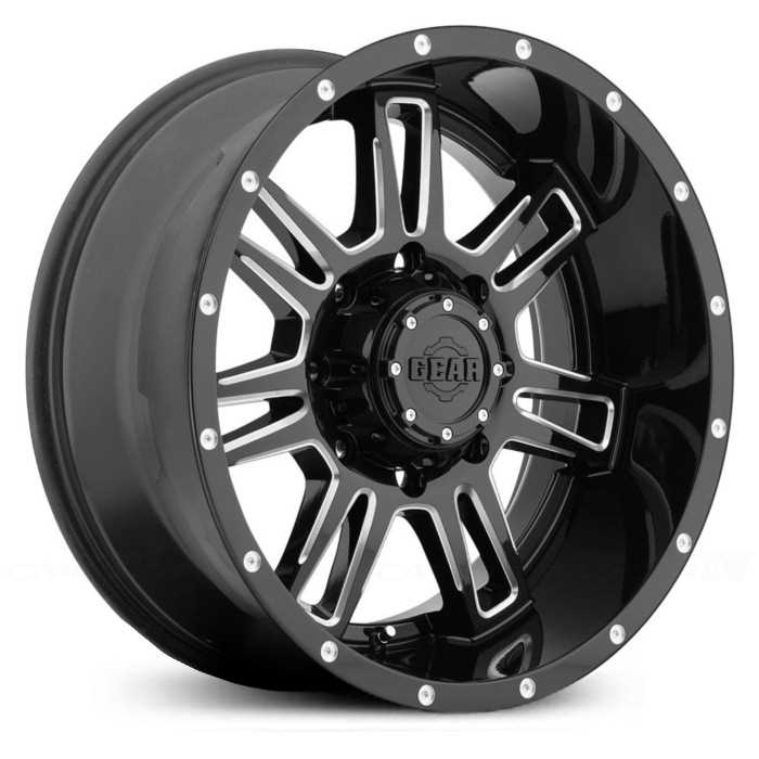 Gear Alloy 737BM Challenger  Wheels Gloss Black with CNC Milled Accents
