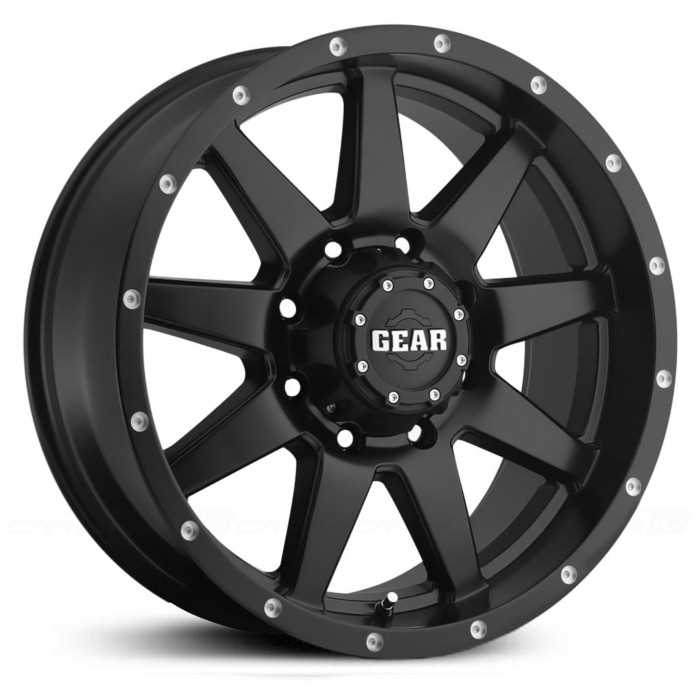 Gear Alloy 728B Overdrive  Wheels Satin Black