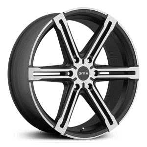 KMC KM686 Faction  Wheels Satin Black With Machined Face