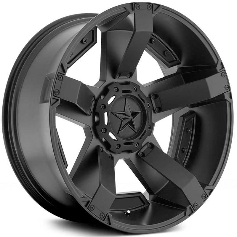 KMC 811 XD Series Rockstar II  Wheels Matte Black With Matte Black Accents