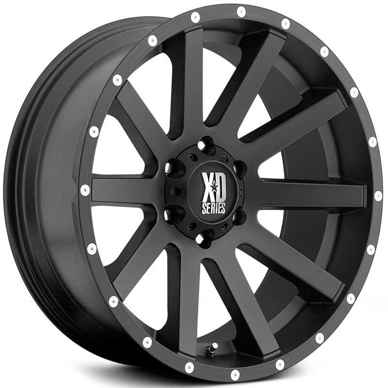 XD Series XD818 Heist Satin Black With Milled Flange