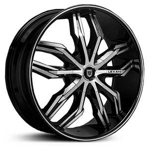 Lexani Arte  Rims Gloss Black Machined
