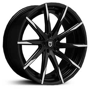 Lexani CSS-15  Wheels Gloss Black w/ Machined Tips