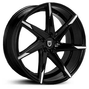 Lexani CSS-7  Wheels Gloss Black w/ Machined Tips