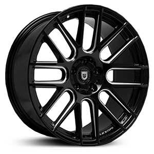 Lexani CSS-8  Wheels Gloss Black/CNC Milled Accents