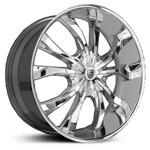 Lexani Lust  Wheels Chrome w/ Deep Lip