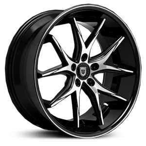 Lexani R-12 Twelve  Wheels Gloss Black Machined