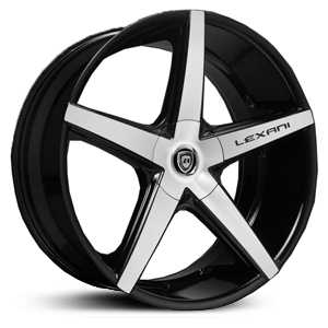 Lexani R-4 Four  Rims Gloss Black Machined