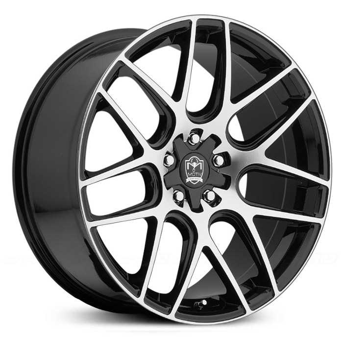 Motiv 409MB Magellan  Wheels Mirror Machined Face w/ Gloss Black Accents