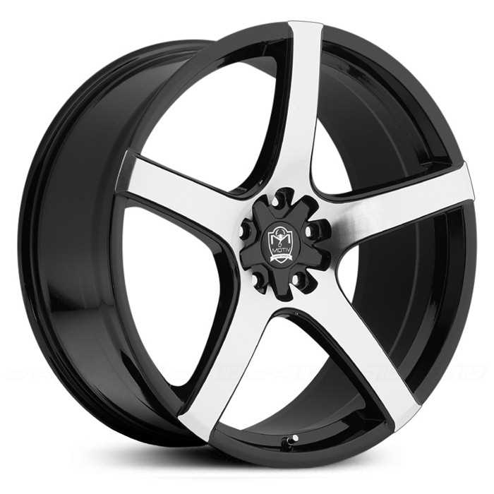 Motiv 410MB Maranello  Wheels Mirror Machined Face w/ Gloss Black Accents
