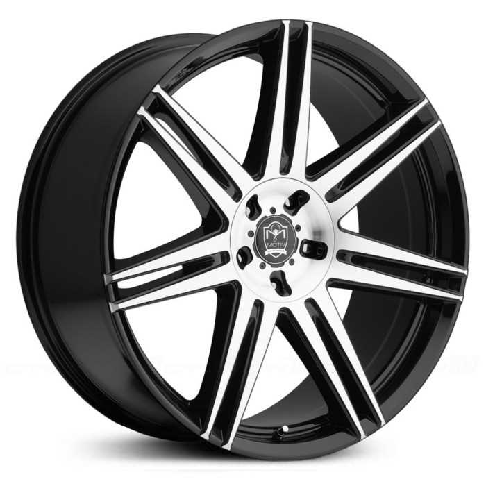 Motiv 414MB Modena  Wheels Mirror Machined Face w/ Gloss Black Accents