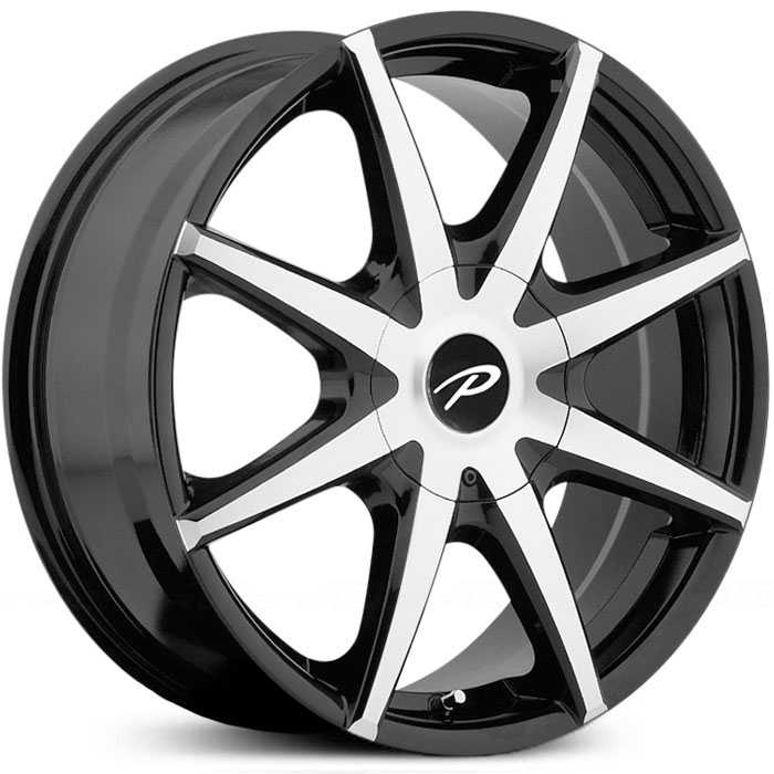 Pacer 784MB Rebel  Rims Mirror Machined Face with Gloss Black Accents