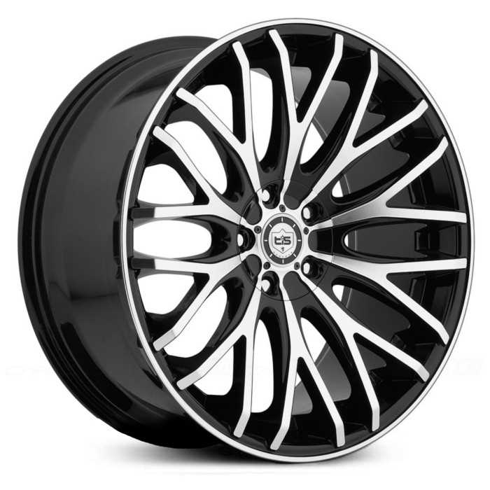 TIS 537MB  Wheels Machined Face & Lip Edge w/ Gloss Black Accents