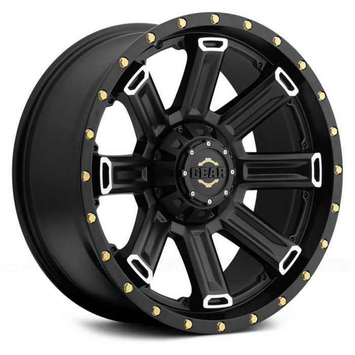 Gear Alloy 738MB Switchback  Wheels Satin Black w/ Machined Accents