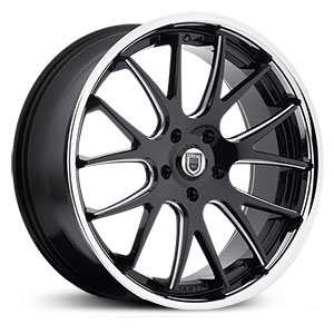 Asanti ABL-3  Wheels Matte Black Milled W/ SS Lip