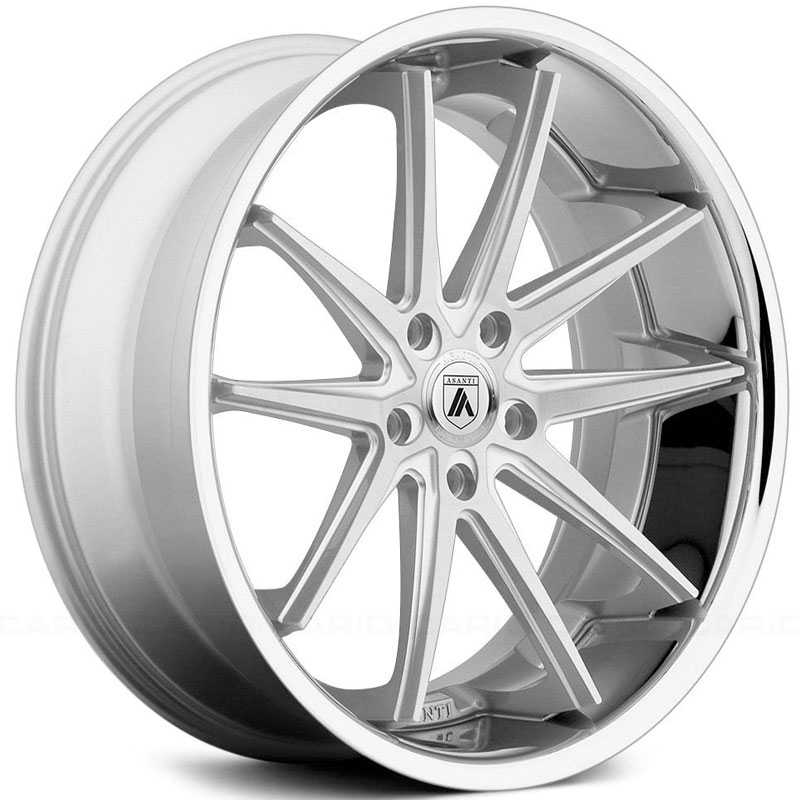 Asanti ABL-5  Wheels Silver Machined  W/ SS Lip
