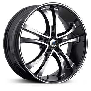 Asanti ABL-6  Wheels Machined Face W/ Black Lip