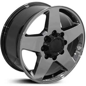Chevy Silverado CV91  Rims Black Chrome