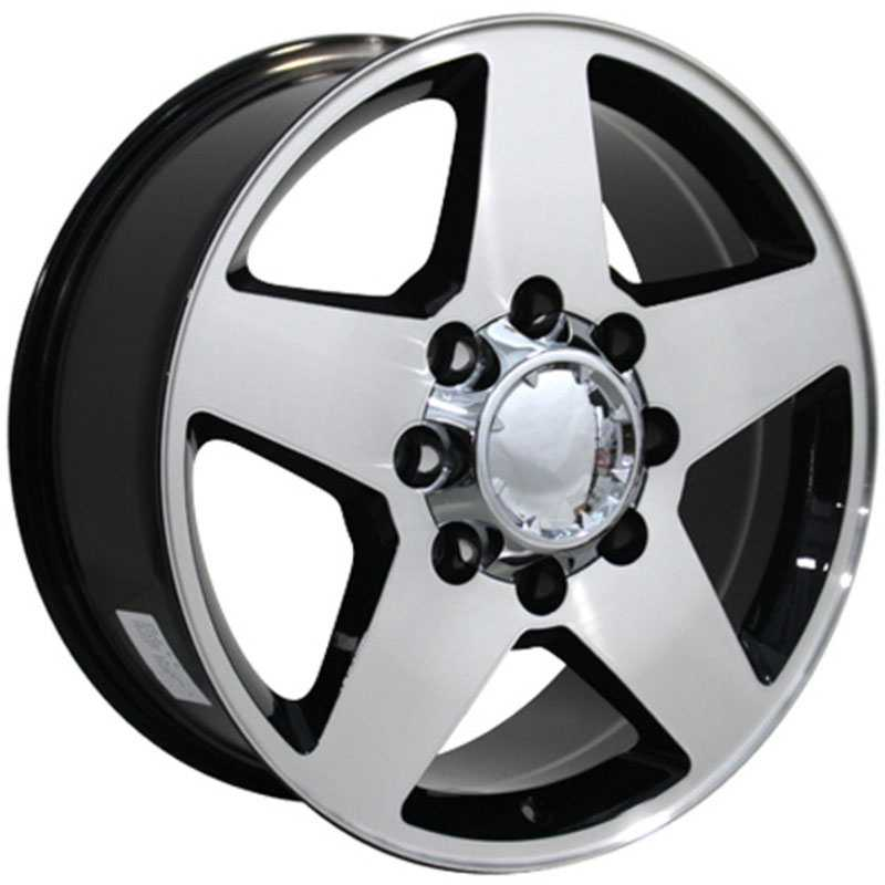 Chevy Silverado CV91  Rims Machined Black