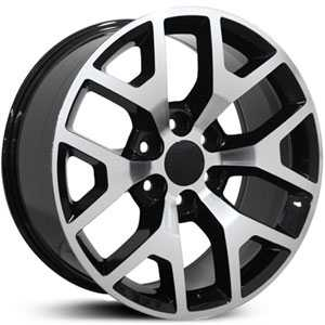 Chevy Sierra CV92  Rims Machined Black