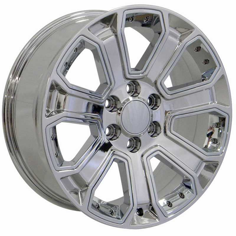 Chevy Silverado CV93  Wheels PVD Chrome w/ Chrome Inserts