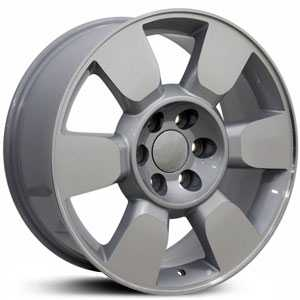 Chevy GMC Sierra CV90  Rims Silver w/ Machined Face