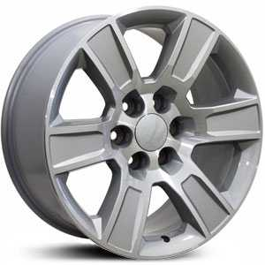 Chevy Sierra CV78  Wheels Machined Silver