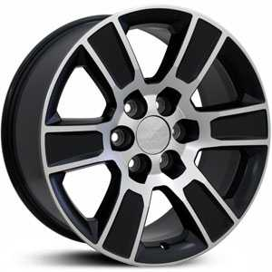 Chevy Sierra CV78  Rims Matte Black w/ Machined Face