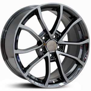 Chevy Corvette C6 Z06 CV09  Wheels Black Chrome
