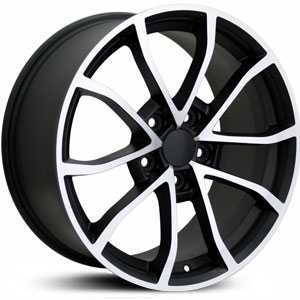 Chevy Corvette C6 Z06 CV09  Wheels Matte Black Machined