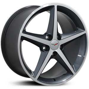 Chevy Corvette C6 Starfish  Wheels Gunmetal Machined Face