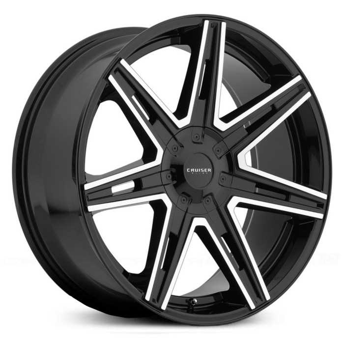 Cruiser Alloy 918MB Paradigm  Wheels Gloss Black w/ Mirror Machined Accents