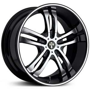 Dub Phase 5 104/105/106  Wheels Black Machined