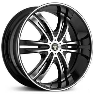 Dub Phase 6 107/108  Wheels Black Machined
