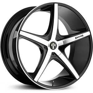 Dub Rio-5 112/113  Wheels Black Machined