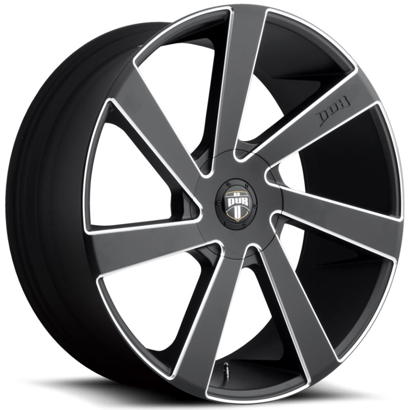 Dub Directa 132/133  Wheels Black Milled