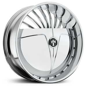 Dub Sliver Skirtz S605  Wheels Chrome