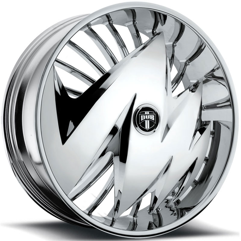Dub Ragged Skirtz S606  Wheels Chrome