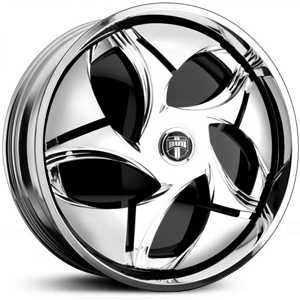 Dub Nunchukka Spinner S732  Wheels Chrome
