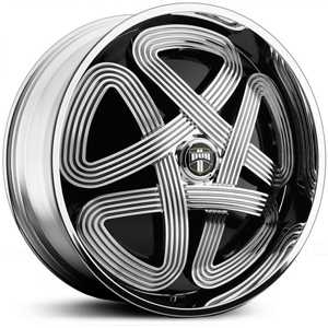 Dub SLOTS Spinner S742  Wheels Chrome