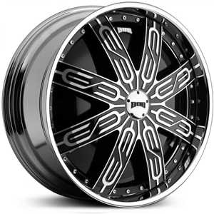 Dub Tycoon Black Spinner S766  Wheels Chrome
