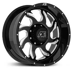 Hardrock Series 508 Gloss Black with Milled accents and Clearcoated