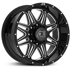Hardrock Series 509 Gloss Black with Milled accents and Clearcoated