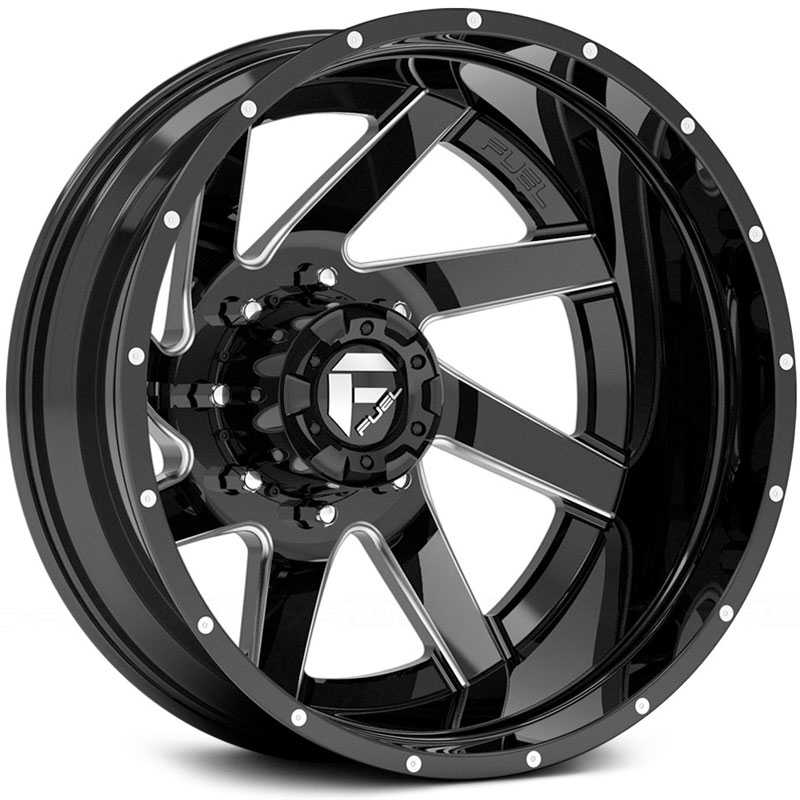Fuel Offroad D265 Renegade Dually  Rims Black Milled (Rear)
