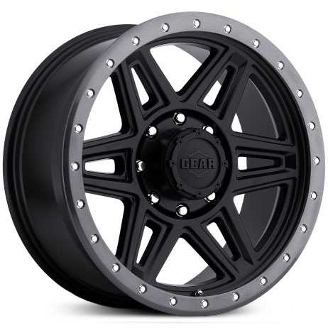 Gear Alloy 739B Endurance  Wheels Satin Black w/ Aluminum Lip Bolts