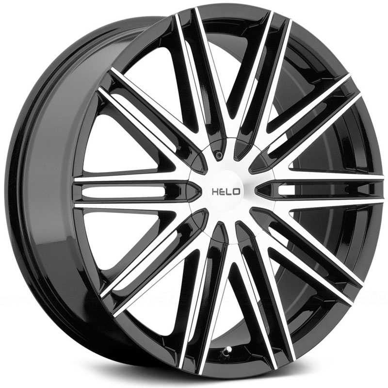 Helo HE880  Wheels Gloss Black W/ Machined Face